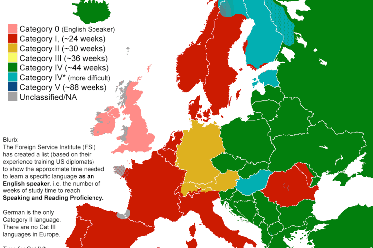 How Long It Takes To Learn Different Languages